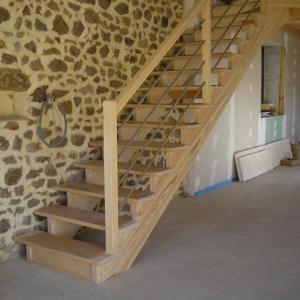Escalier Bois - Menuiserie Pyrénées Orientales